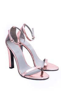 Alexander Wang Leather Metallic Metallic Pink Sandals