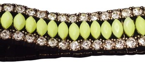 J.Crew Yellow Neon Crystal Rhinestone Stretch Bracelet