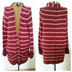 Free People Cardigan Coat Striped Lounge Sweater
