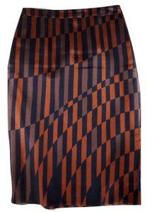 Dries van Noten Silk Wool Geometric Skirt Multicolor