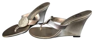 Yellow Box Pewter Sandals