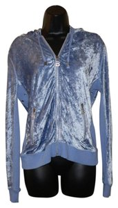BCBGMAXAZRIA BCBGMAXAZRIA Light Blue Zipper Hoodie Jacket