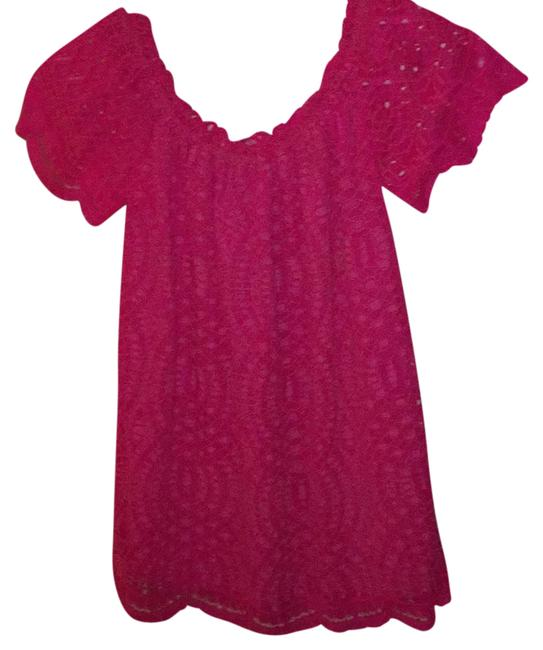 Item - Knotty Lace Marble Bright Pink Top