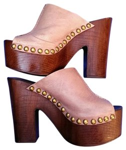 Charles David Blush/Brown Platforms