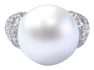 Other 18Kt South Sea Pearl Diamond White Gold Jewelry Ring 14mm 2.00Ct