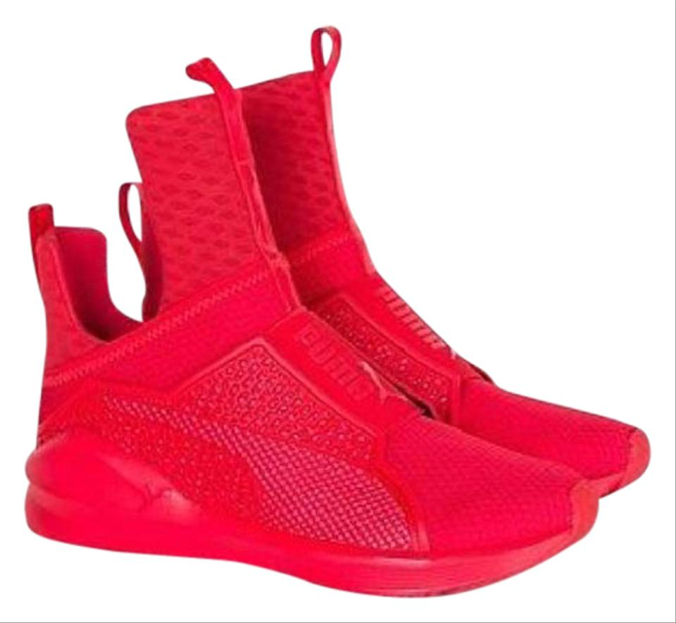premium selection e0279 bef61 Puma Red Rihanna X Fenty Trainer Sneakers Size US 8.5 Regular (M, B)