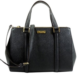Kate Spade Satchel in Black. Gold.