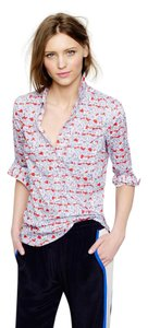 J.Crew Top Red, Blue, White