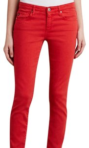AG Adriano Goldschmied Straight Pants Red