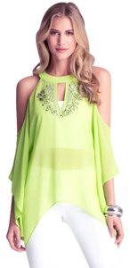 bebe Cold Embellished Kimono Cover Up Tunic