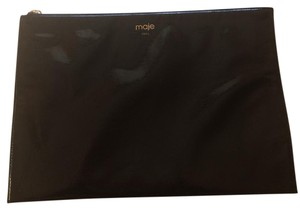 Maje France Ipad Tablet Cosmetic Travel Black Clutch