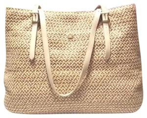 Eric Javits Tote in Natural and Taupe