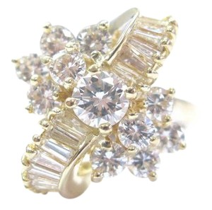 Other 18Kt Round & Baguette Diamond Multi Shape Yellow Gold Cluster Ring 2.0