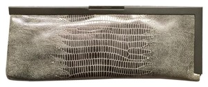 Calvin Klein Gray crocodile pattern, silver hardware Clutch