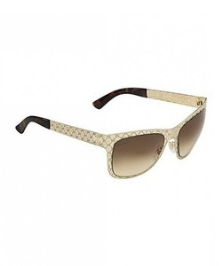Gucci NEW Gucci GG 4266/S Gold Metal Logo Cutout Sunglasses