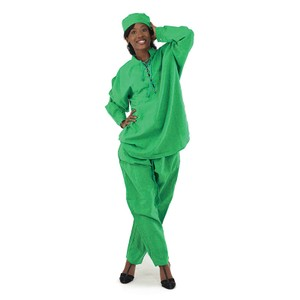 Boutique 9 Cotton Pant Set - String-Tied: Green..Attractive For Any Occasion