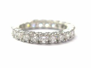 Other Fine Round Cut Diamond Eternity Band Ring WG 2.20CT Sz 6.5
