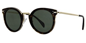 Cline NEW Celine 41373/S Sunglasses Lea Brown Gold Spotted Round Metal