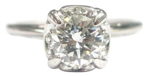 Other Fine Round Cut Diamond Solitaire Engagement Ring WG .81CT