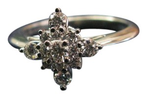 Tiffany & Co. Tiffany & Co Platinum Starburst Diamond Jewelry Ring .41CT PT950 Sz 5.