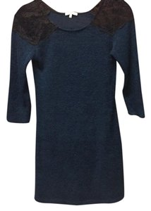 Charlotte Russe short dress dark blue with black lace on Tradesy
