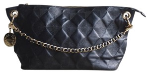 Charles David Leather Suede Quilted Diamond Hobo Bag