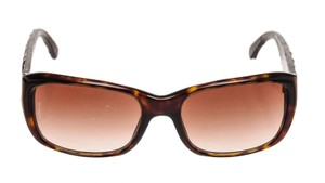 Chanel Chanel Brown Frame Brown Quilted Leather Sunglasses