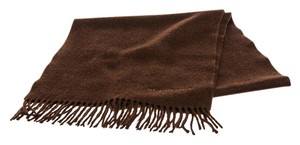 Burberry Burberry Brown Cashmere Fringe Scarf