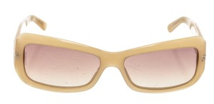 Chanel Chanel Cream Quilted Silver Studded Sunglasses 207598