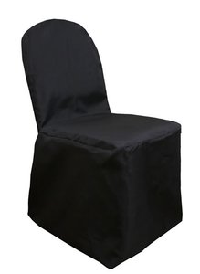 Black Polyester Chair Covers