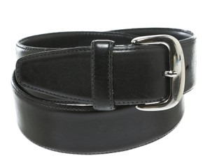 Calvin Klein Calvin Klein Black Leather Belt (Size S)