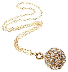 Amrita Singh Large Crystal Ball Gold Tone Amrita Singh Necklace