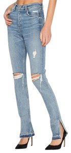 GRLFRND High Rise Split Natalia Skinny Jeans-Light Wash