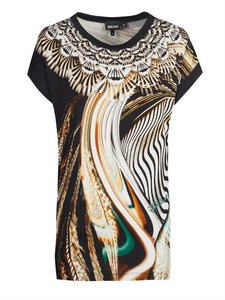 Just Cavalli Sale T Shirt Black & Brown