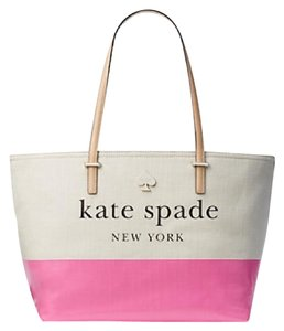 Kate Spade Tote in pink/ cream