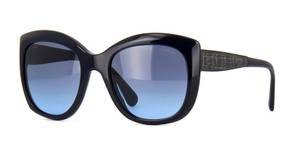 Chanel CHANEL 5347 1426/S2 Dark Blue with Metal Detail Sunglasses