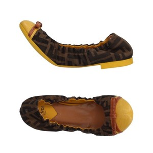 Fendi brown yellow Flats