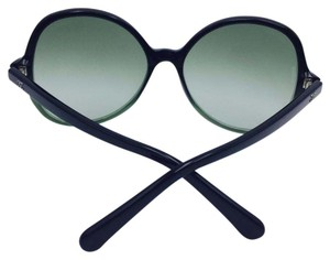Chanel Chanel Oval Summer Black and Green Sunglasses 5351 59
