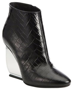Maison Margiela Leather Italian Black and Silver Boots