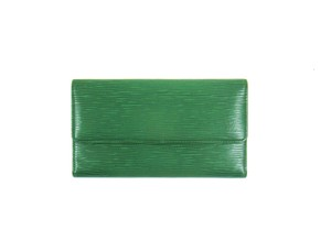 Louis Vuitton Green Epi Leather International Long Clutch Wallet Spain