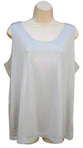 Chico's Metallic Date Night Top Silver