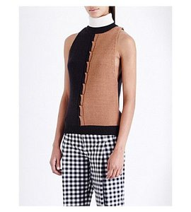 Opening Ceremony Intermix Cable Knit Turtleneck Multi Sweater