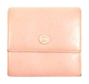 Chanel Caviar Leather Trifold Compact Clutch Wallet Italy