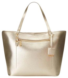 Kenneth Cole Metallic Handbag Tote in Gold