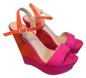 Forever 21 pink / orange Wedges