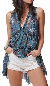 Free People Boho Long Empire Waist Tunic