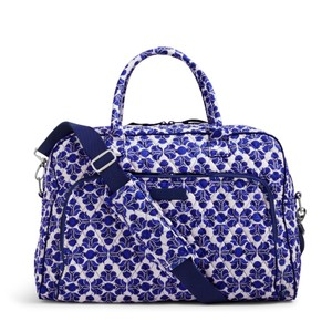 Vera Bradley Carryon Weekender Overnight cobalt tile Travel Bag