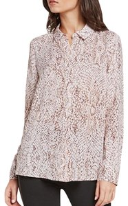 BCBGeneration Button Up Top rose