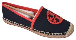 Tory Burch bright navy poppy red Flats