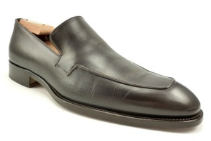 Giorgio Armani Men's Shoes Leather Slip On Loafers